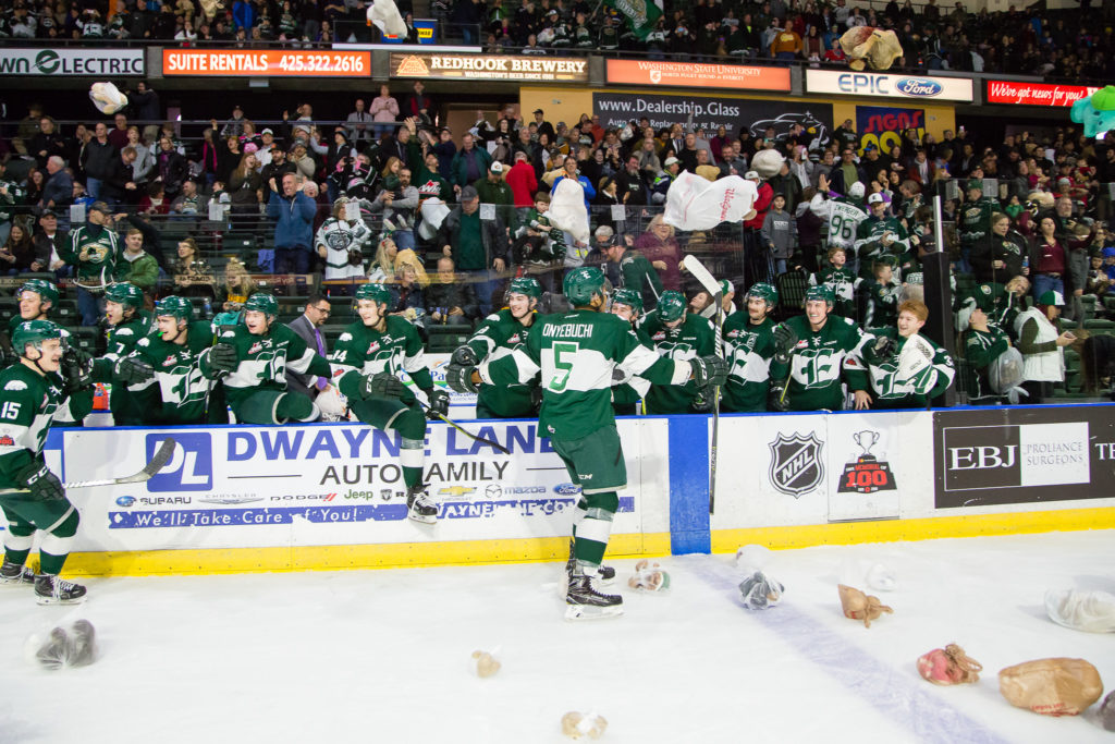 Silvertips Collect Over 8,500 Stuffed Animals for Teddy Bear Toss