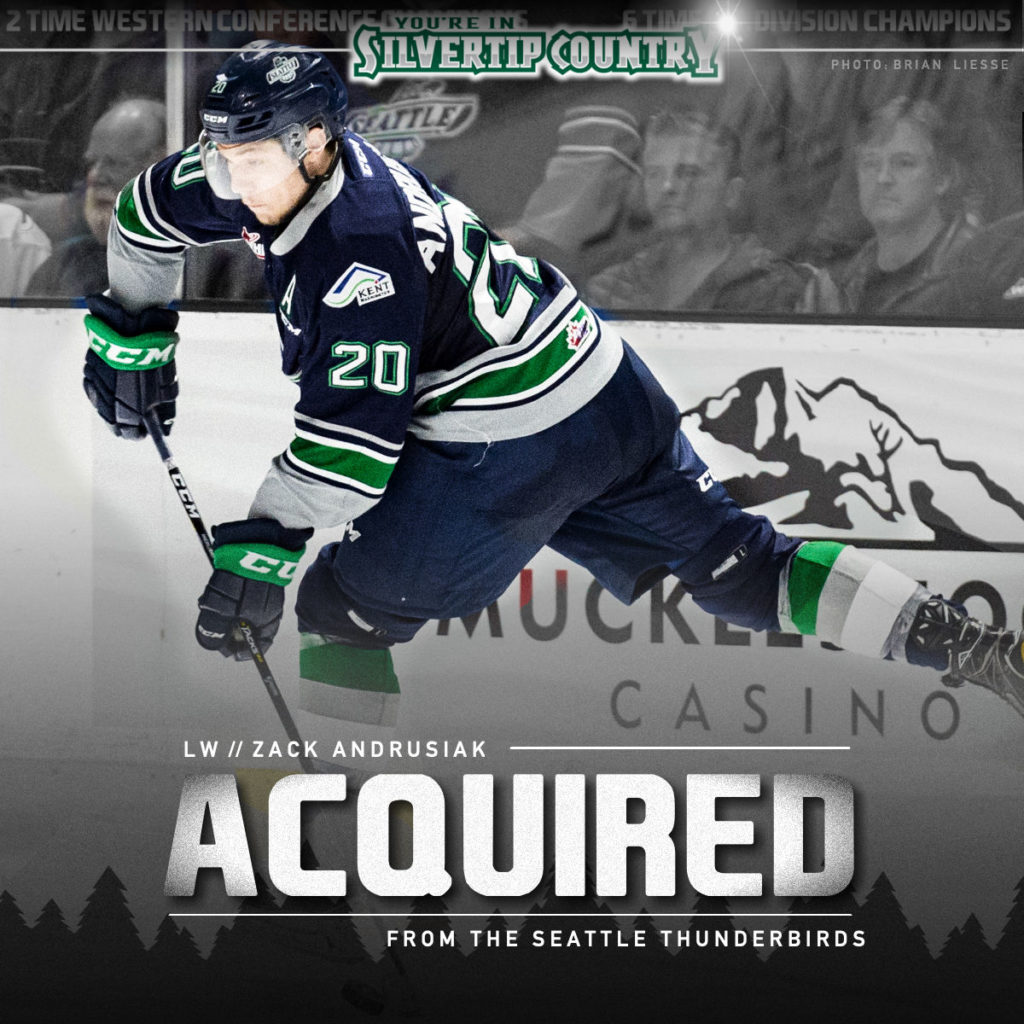 Everett Silvertips Acquire Top Scorer