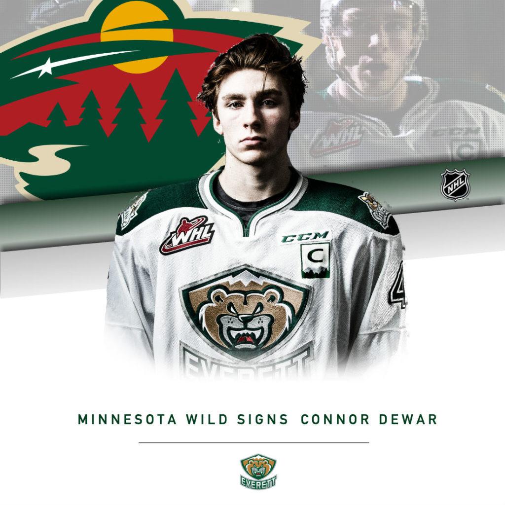 SIGNED – Dewar, Minnesota Wild